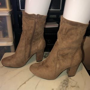 Faux Suede Booties (8.5)